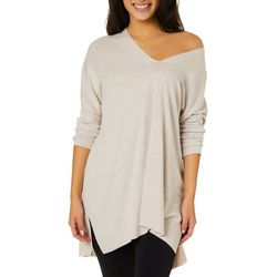 Miss Chievous Juniors Ribbed Trim Tunic Sweater