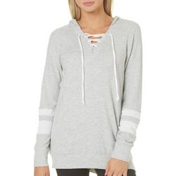 Miss Chievous Juniors Lace-Up Tunic Sweatshirt