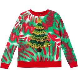 Miss Chievous Juniors Festive Tree Sequin Sweater