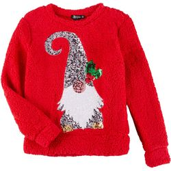 Miss Chievous Juniors Holiday Elf Sequin Sweater