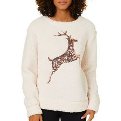 Miss Chievous Juniors Embellished Reindeer Faux Fu
