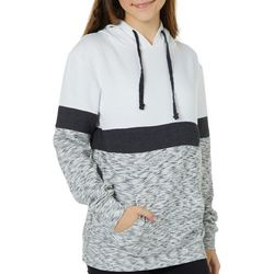 Exist Juniors Colorblock Heathered Hooded Sweatshirt