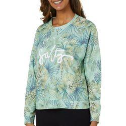 Exist Juniors Let's Get Salty Pullover Sweatshirt