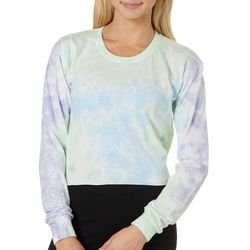 Southern Spirit Juniors Tie Dye Cropped Long Sleeve T-Shirt