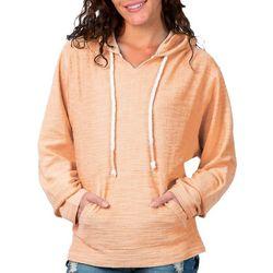 Juniors Solid Hooded Sweatshirt