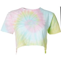 Southern Spirit Juniors Tie Dye Cropped T-Shirt