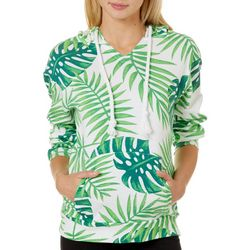 Southern Spirit Juniors Tropical Palm Leaf Hooded Sweatshirt