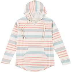Exist Juniors Striped Long Sleeve Hoodie