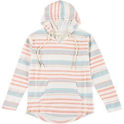 Juniors Striped Long Sleeve Hoodie