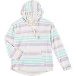 Exist Juniors Long Sleeve Stripe Hoodie