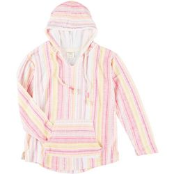 Exist Juniors Vertical Stripe Long Sleeve Hoodie
