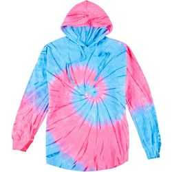 Southern Spirit Juniors Fuschia Tie Dye Long Sleeve Hoodie