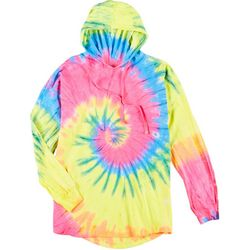 Exist Juniors Tie Dye Oversized Long Sleeve Hoodie