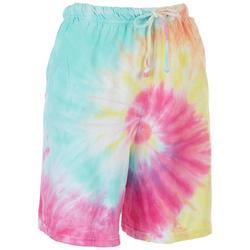 Juniors Tie-Dye Bermuda Shorts