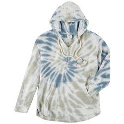 Dreamsicle Juniors Soft Tie-Dye Hooded Sweatshirt