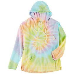 Dreamsicle Juniors Tieye Hooded V-neck Sweatshirt