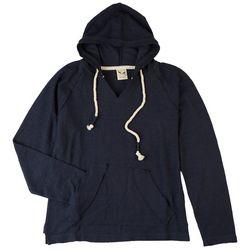 U.S.Vintage Juniors Solid Long Sleeve Hooded Sweatshirt