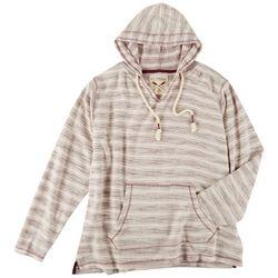 U.S.Vintage Juniors Stripe Long Sleeve Hooded Sweatshirt