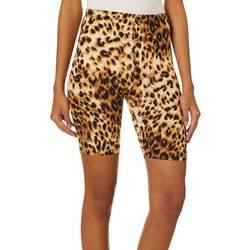 No Comment Juniors Cheetah Print Bike Shorts
