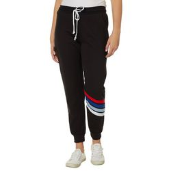 No Comment Juniors Striped Solid Jogger Pants