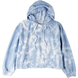 No Comment Juniors Tie-Dye Cropped Hoodie