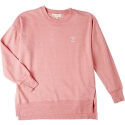 No Comment Juniors Solid Slogan Sweatshirt