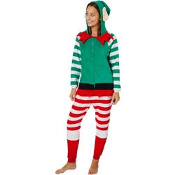 Derek Heart Juniors Elf Zippered Long Sleeve Jumpsuit