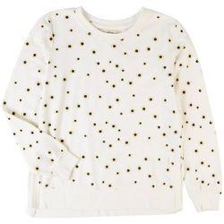 Wallflower Juniors Daisy Printed Long Sleeve Top