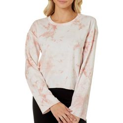 Cravefame Juniors Tie Dye Cropped Long Sleeve Top