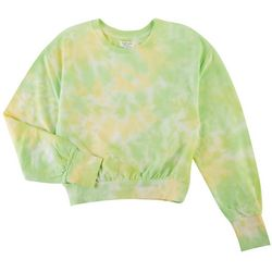 Full Circle Trends Juniors Neon Tie-Dye Sweatshirt