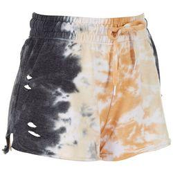 Full Circle Trends Juniros Ripped Sweat Shorts