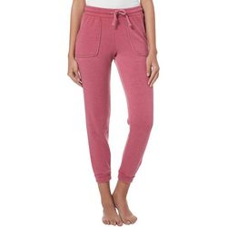 Pink Rose Juniors Burnout Fleece Jogger Pants