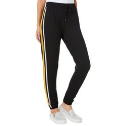 Hot Kiss Juniors Athletic Striped Jogger Pants