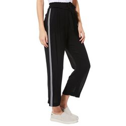 Angel Kiss Juniors Athletic Striped Pull On Crop Pants