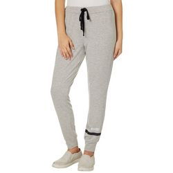 Rewash Juniors Metallic Stripe Heathered Jogger Pants