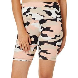 Glitz Juniors Camo Print High Waisted Bike Shorts