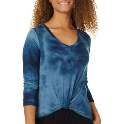 Moral Fiber Juniors Tie Dye Twist Front Top