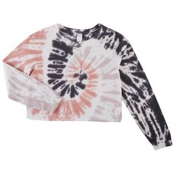 Messy Buns, Lazy Days Juniors Tie Dye Cropped Sweatshirt