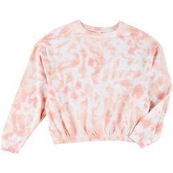 Messy Buns, Lazy Days Juniors Tie-Dye Cropped Sweatshirt