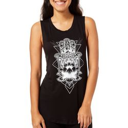 Rebellious One Juniors Hamsa Hand Tank Top