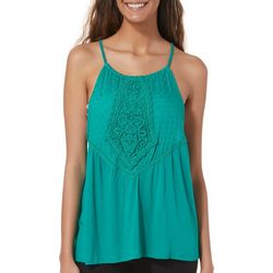 Taylor & Sage Juniors Crochet Knit Top