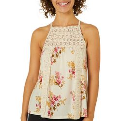 Be Bop Juniors Floral Crochet Tank Top
