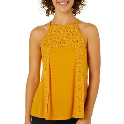 Be Bop Juniors Solid Crochet Tank Top