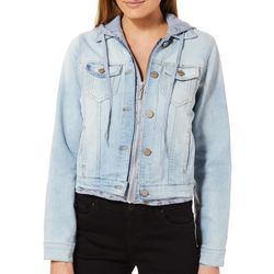 Jou Jou Juniors Denim Knit Hooded Jacket