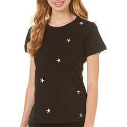 Poof Juniors Solid Star Short Sleeve Top