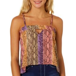 H.I.P. Juniors Rainbow Snakeskin Woven Sleeveless Top