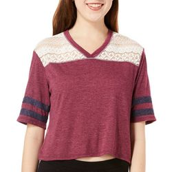 Jolt Juniors Solid Lace T-Shirt