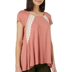 Rewind Juniors Lace-Up Back High-Low Top