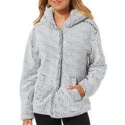 Jolt Juniors Magnetic Buttoned Faux Fur Hooded Jacket