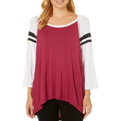 Miss Chievous Juniors Colorblock Athletic Striped Top